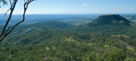 Forests and hills in toowoomba