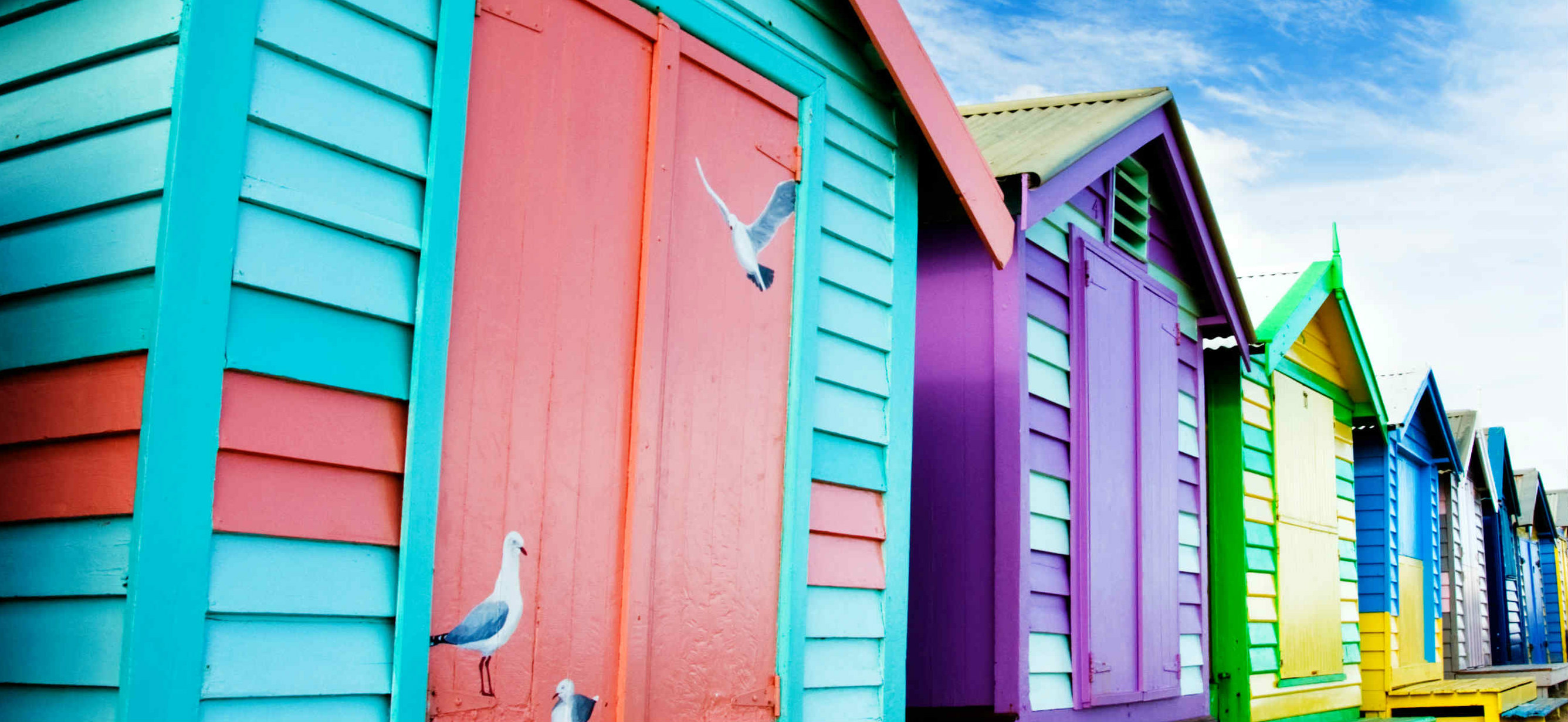colourful houses in St. Kilda, Melbourne