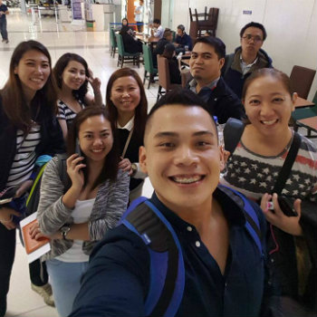 Team Leaders at the Airport in the Philippines