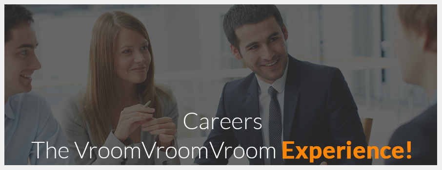 VroomVroomVroom careers' banner