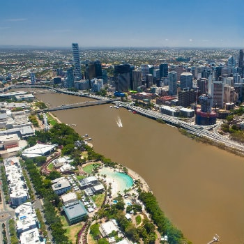 Aerial view of Brisbane city