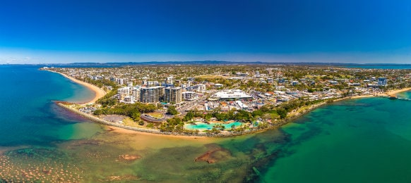 aerial view redcliffe brisbane australia