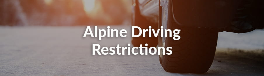 Alpine driving restrictions guide banner