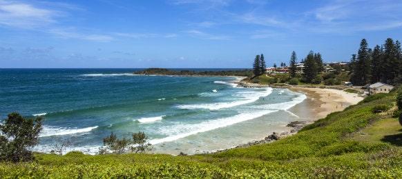 amazing view of yamba beach, nsw