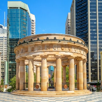 anzac square and central railway station, brisbane