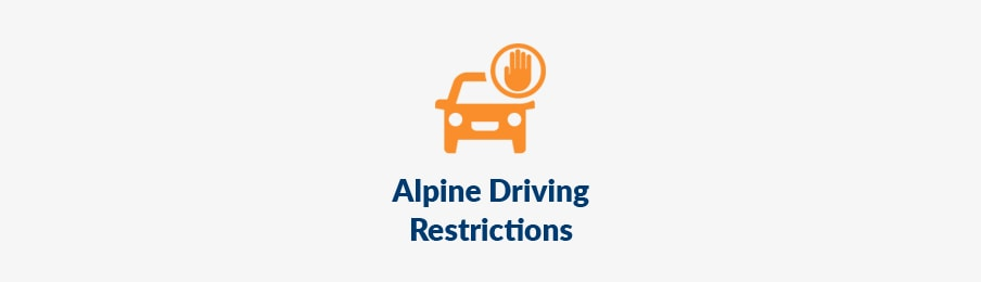 AU driving, Alpine driving restrictions guide banner