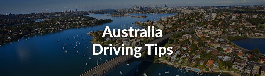 Australia driving tips guide banner