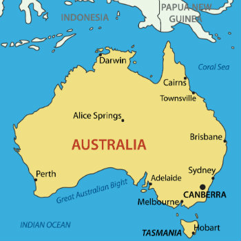 map of australia find a car hire in australia at vroomvroomvroom