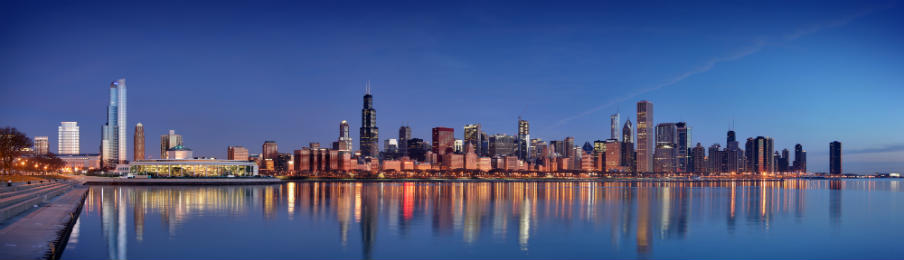 beautiful chicago skyline