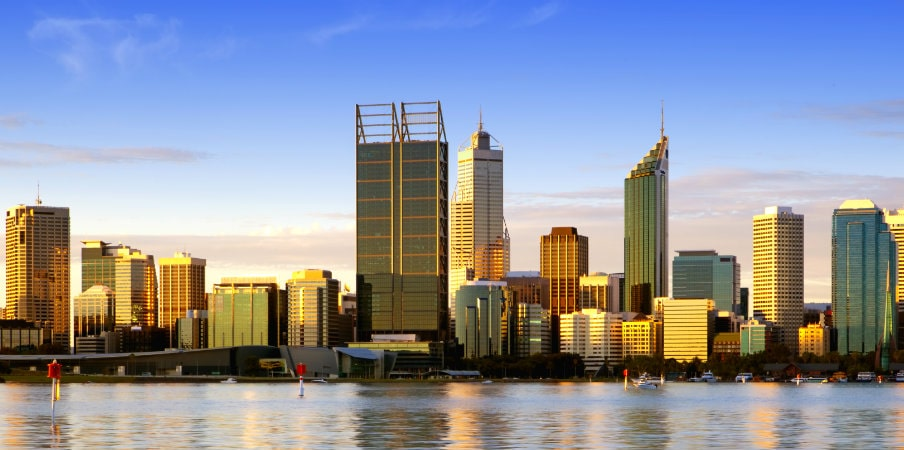 beautiful perth skyline