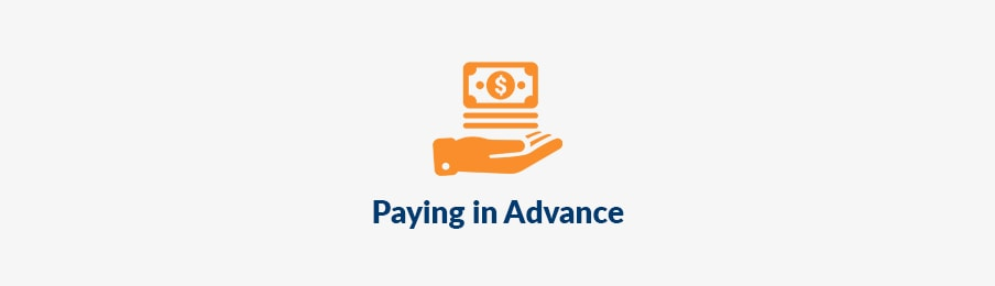 Paying in advance in Australia before booking banner