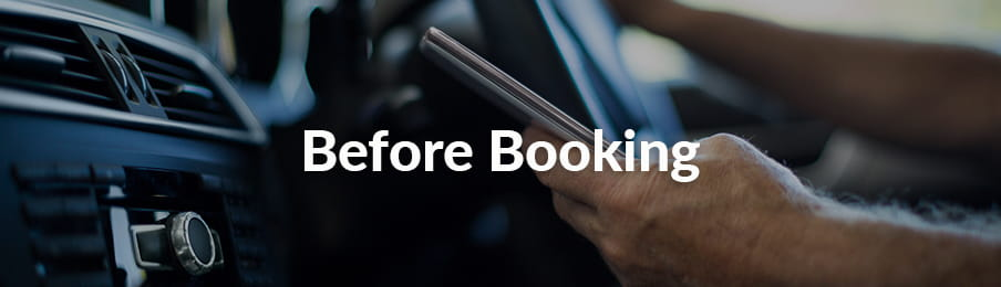 Before booking a rental car in AU banner