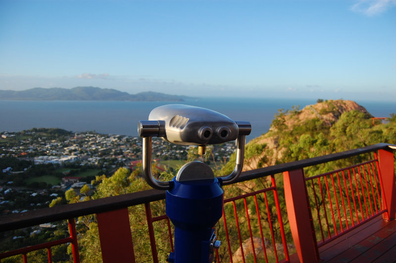 Binoculars at lookout in Townsville