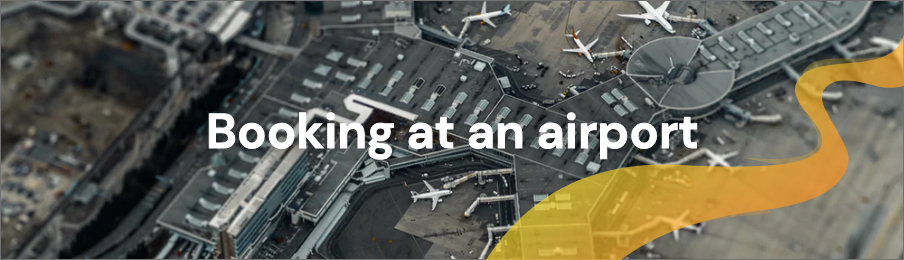 Booking at an airport