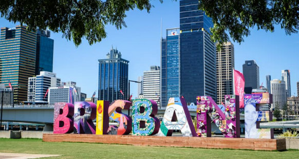 popular Brisbane sign in South Bank