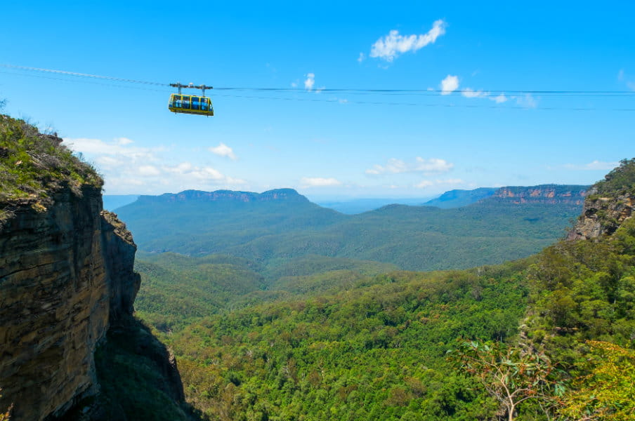 Cable car at Scenic World, AU
