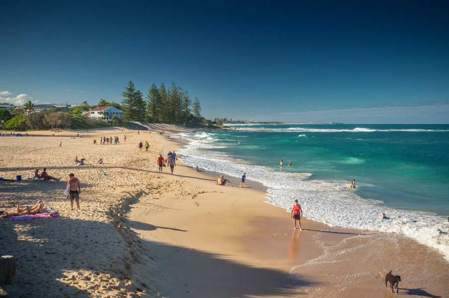 Beach in Caloundra