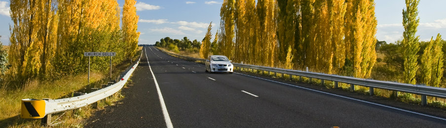 Driving in Australia with a car rental vehicle at New South Wales, Australia