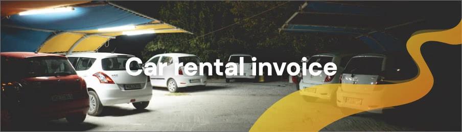 Car rental invoice