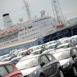 cars and ship