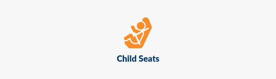 Child seats for car rental, extras in AU guide banner