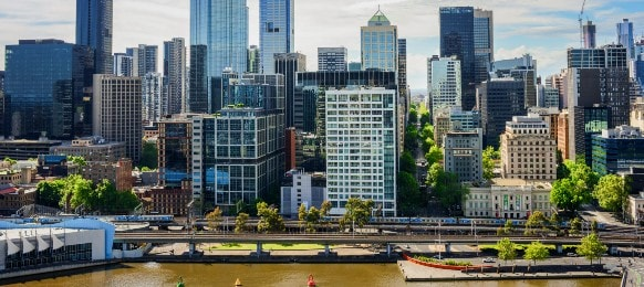 city view of southbank melbourne