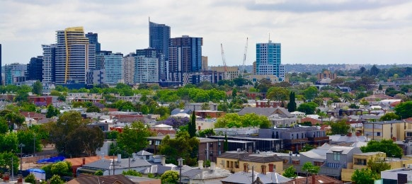 cityscape of melbourne, south yarra