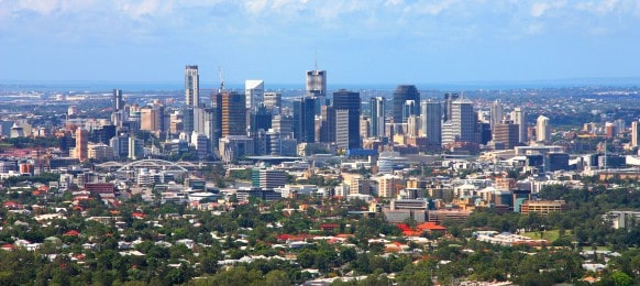 cityscape of brisbane, queensland