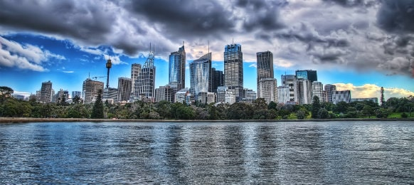 cityscape of sydney australia