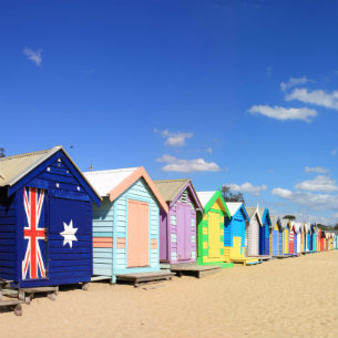 bathing boxes in brighton beach, melbourne