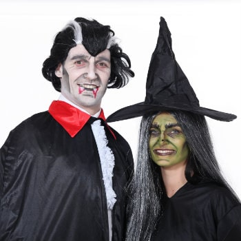 couple dressed up for halloween