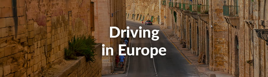 Driving in Europe for Australians banner
