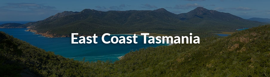 East Coast Tasmania in Australia banner