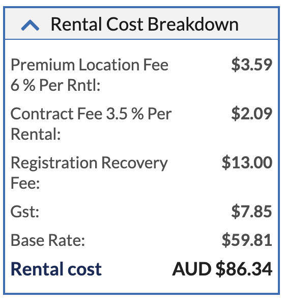 enterprise rental cost breakdown