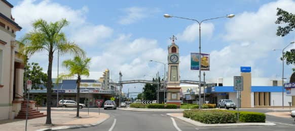 Townsville CBD on a sunny day
