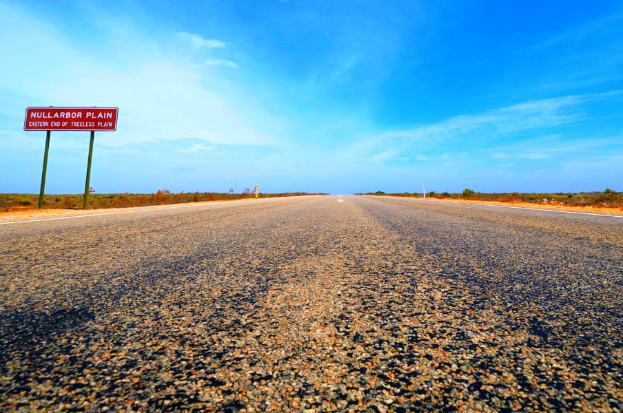 Eyre Highway at Nullarbor Plain, South Australia