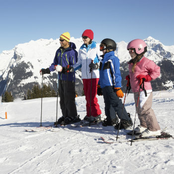 family on a ski holiday