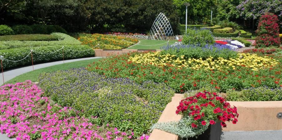 garden in roma street parkland