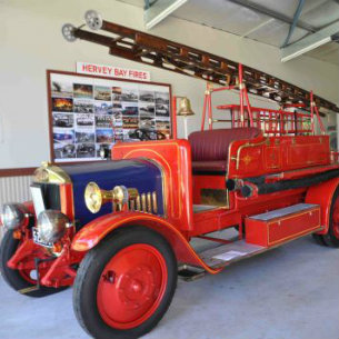 firetruck display at hervey bay museum