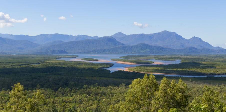 Hitchinbrook Island from Bruce Highway Lookout, Queensland, Australia
