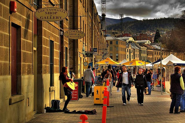 Hobart Car Rental at Salamanca Place Markets