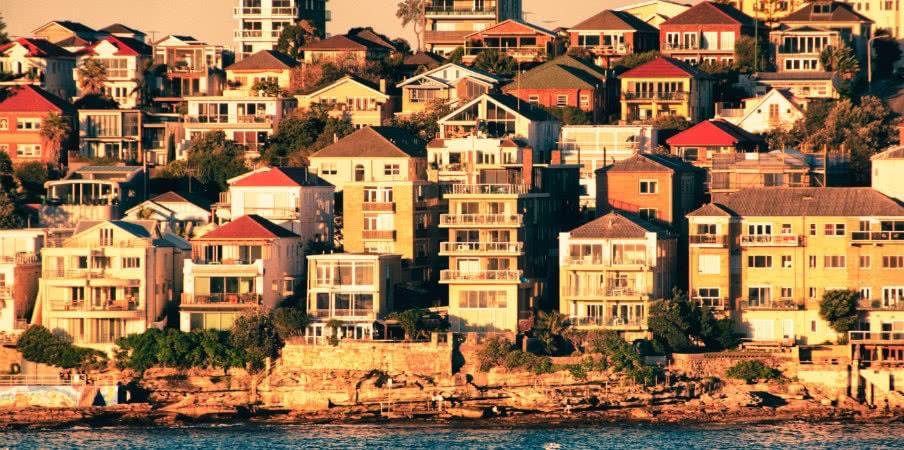 houses in bondi beach beside the sea