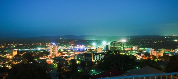 ipswich city cbd at night, queensland