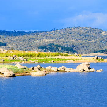Lake Jindabyne foreshore in Australia