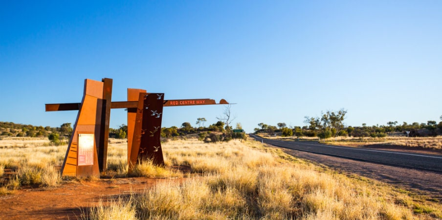 Larapinta Drive for the Red Centre way, Northern Territory, AU