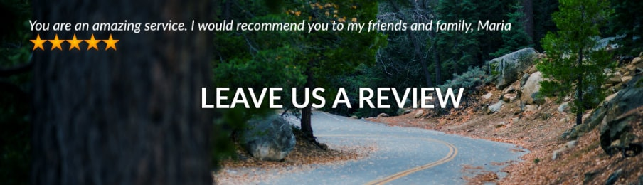 Leave a review AU banner