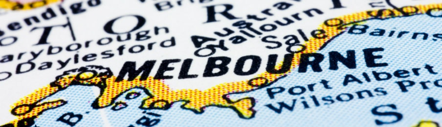 Map of Melbourne, Australia