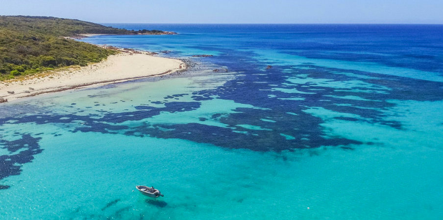 aerial view of Margaret River