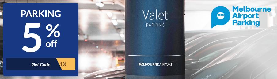 melbourne airport parking offer banner