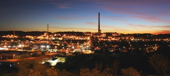 mining city at mount isa, queensland